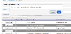 Alertify Confirmation Dialog on List Page